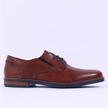 Rieker Men Laced Shoe - Brown Leather