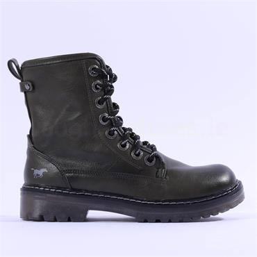 Mustang Lace Up Military Boot - MOSS