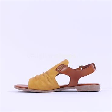 Mustang Flat Slingback Sandal - Yellow Combi
