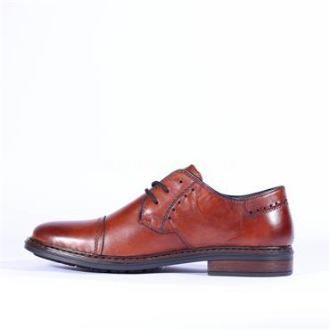 Rieker Men Clarino Toe Cap Shoe - Tan Leather