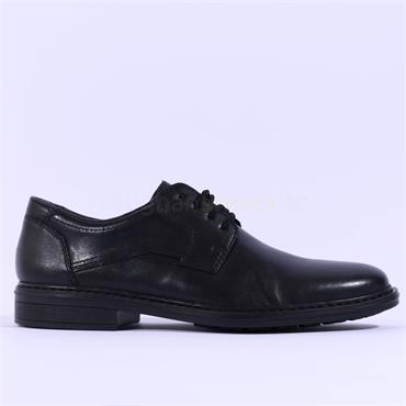 Rieker Men Clarino Laced Shoe - Black Leather