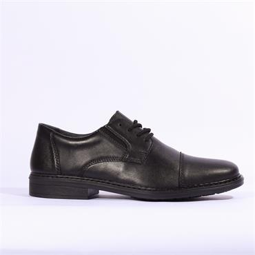 Rieker Lugano Laced Toe Cap - Black