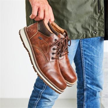 Rieker Men Tamburo Laced Tex Shoe - Brown