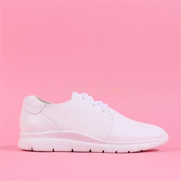 Gabor Laced Comfort Trainer Antonia - White Leather
