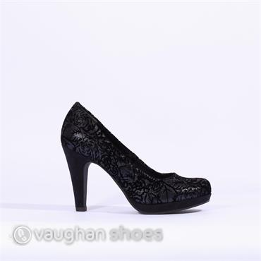 Marco Tozzi Court Shoe With Platform - Navy