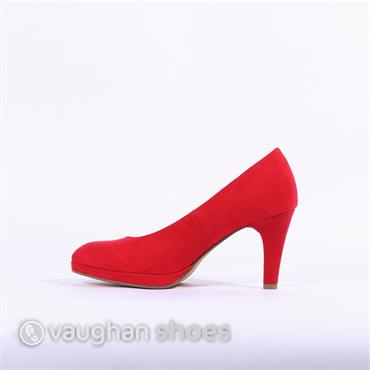 Marco Tozzi Platform High Heel - Red Suede