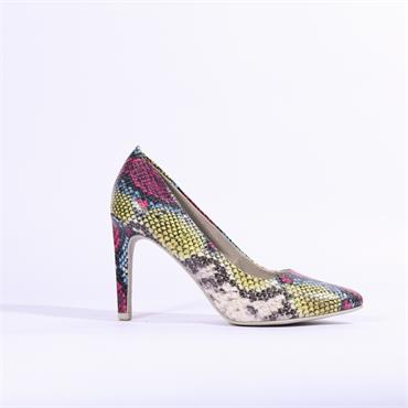 Marco Tozzi Snake Print High Heel Metato - Snake Multi
