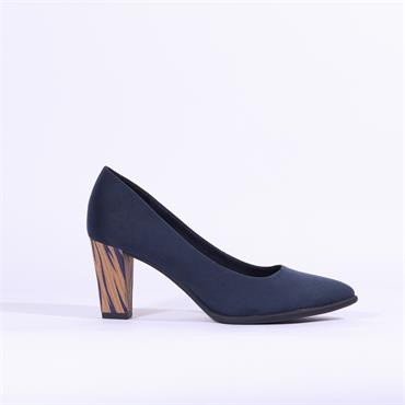 Marco Tozzi Ola High Heel Shoe - Navy