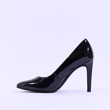 Marco Tozzi Metato Patent High Heel - Black Patent