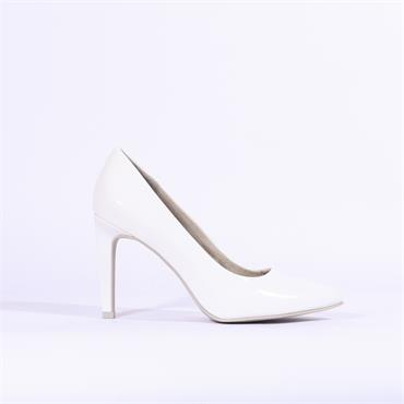 Marco Tozzi Patent High Heel Metato - White Patent