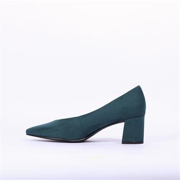Marco Tozzi V Cut Low Block Heel Baci - Teal
