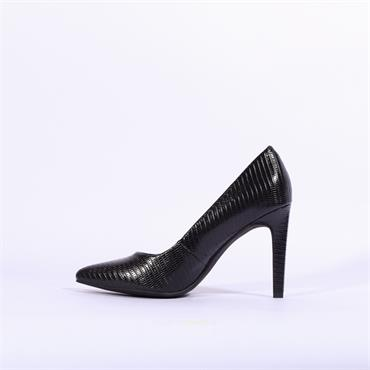 Marco Tozzi Snake Print High Heel Metato - Black Snake