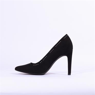 Marco Tozzi Metato High Heel Stud Trim - Black