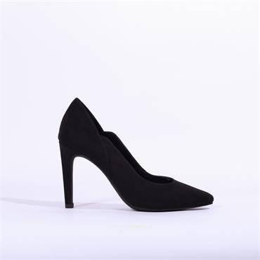 Marco Tozzi Cut Out High Heel Metato - Black Suede