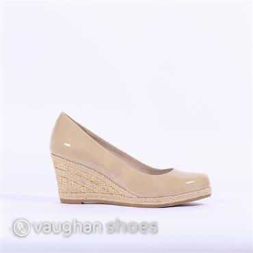2e6d666c1b43 Marco Tozzi Wedge With Weaved Heel - Dune ...