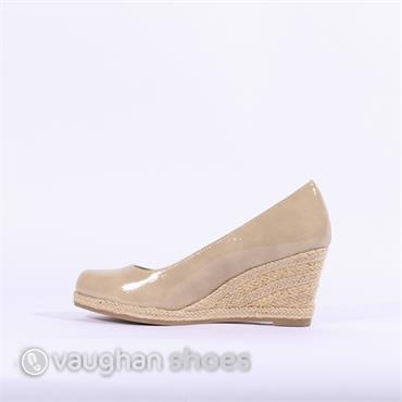 0bbc890bf29a ... Marco Tozzi Wedge With Weaved Heel - Dune