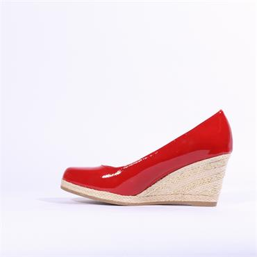 Marco Tozzi Senago Patent Wedge - Red Patent