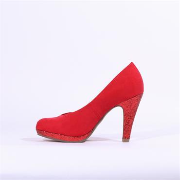 Marco Tozzi Taggia Glitter High Heel - Red Combi