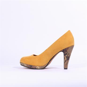 Marco Tozzi Taggia Platform High Heel - Yellow Snake