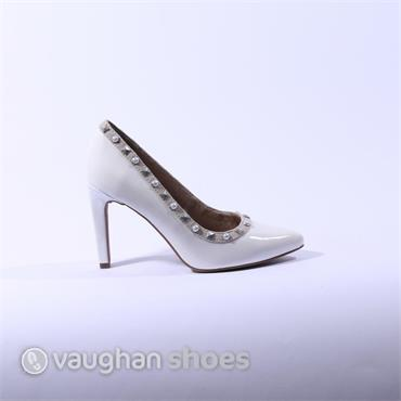 Marco Tozzi Stud Detail Court Shoe - White