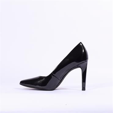 Marco Tozzi Metato Patent High Heel - Black