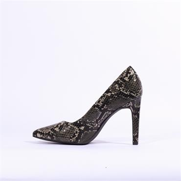 Marco Tozzi Metato Patent High Heel - Grey Snake