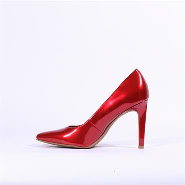 Marco Tozzi Metato Patent High Heel - Red