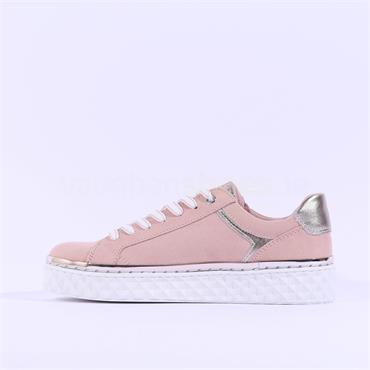 Marco Tozzi Ago Trainer With Side Zip - Pink Combi