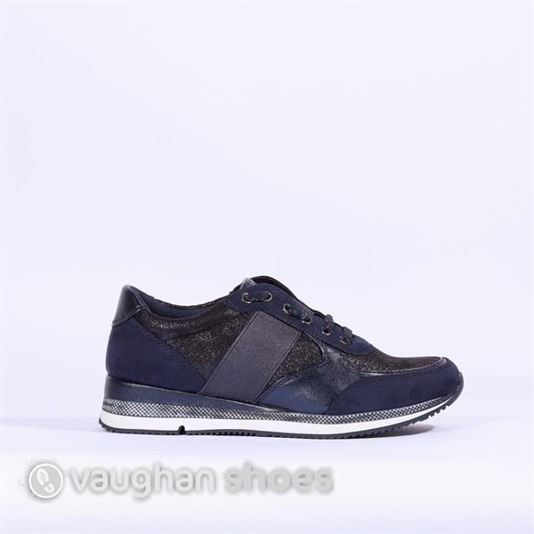 Marco Tozzi Slip On Sneaker With Elastic - Navy Combi   Vaughan ... 8c2720d901
