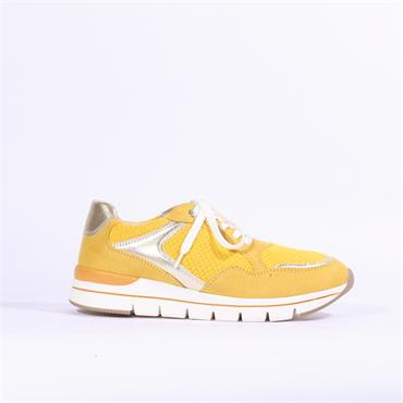 Marco Tozzi Bosa Vegan Lace Up Trainer - Yellow