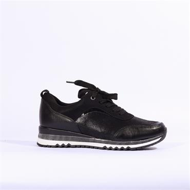 Marco Tozzi Bonallo Lace Up Trainer - Black Combi