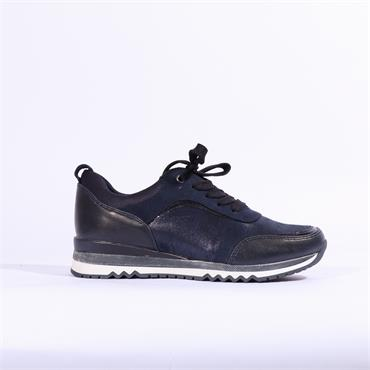 Marco Tozzi Bonallo Lace Up Trainer - Navy Combi