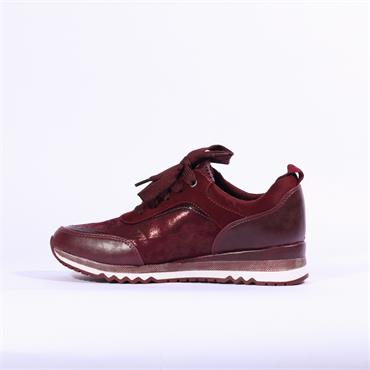 Marco Tozzi Bonallo Lace Up Trainer - Wine