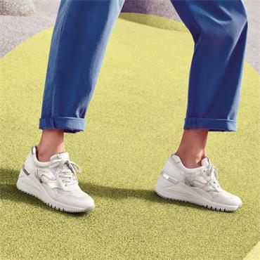 Marco Tozzi Magana Wedge Trainer - White Silver