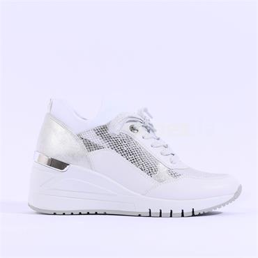 Marco Tozzi Wedge Trainer Magana - White Combi