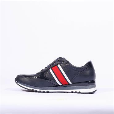 Marco Tozzi Bonallo Elastic Slip On Shoe - Navy Combi