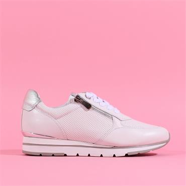 Marco Tozzi Opalla Leather Trainer - White Leather