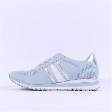 Marco Tozzi Stripe Laced Trainer Bonallo - Light Blue Combi