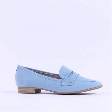 Marco Tozzi Rura Slip On Loafer - Light Blue