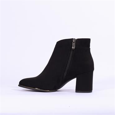 Marco Tozzi Delo Ankle Boot Side Zip - Black