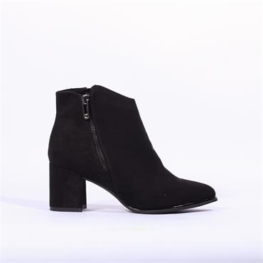 Marco Tozzi Delo Side Zip Boot - Black Suede