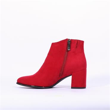 Marco Tozzi Delo Side Zip Boot - Red