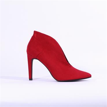 Marco Tozzi High Heel Shoe Boot - Red Suede
