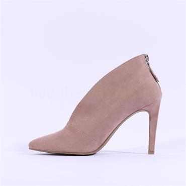 Marco Tozzi Metato Heel Zip Boot - Nude