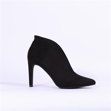 Marco Tozzi Metato V Cut High Heel - Black