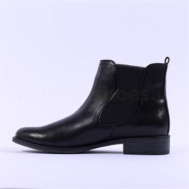 Marco Tozzi Rapalli Low Heel Ankle Boot - Black Combi