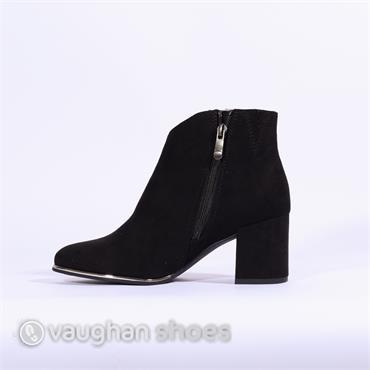 Marco Tozzi Metallic Strip Ankle Boot - Black Combi