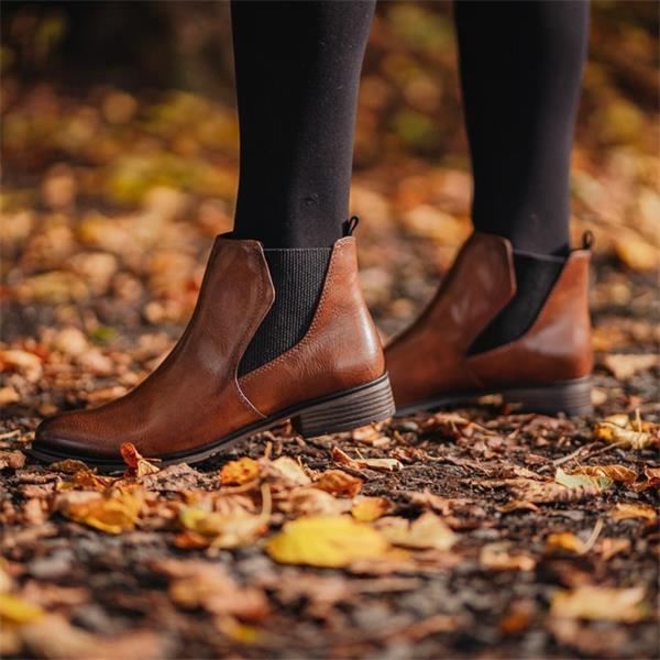 Marco Tozzi Rapalli Low Heel Ankle Boot Cognac