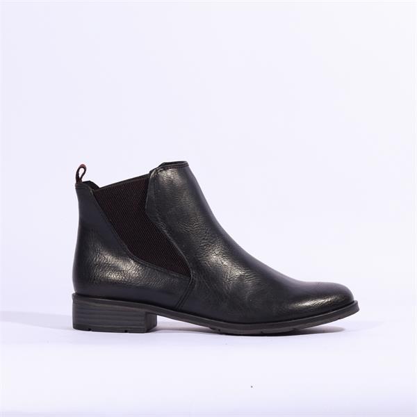 Marco Tozzi Rapalli Low Heel Ankle Boot Navy Combi