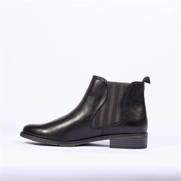 Marco Tozzi Rapalli Low Heel Ankle Boot - Black Combi